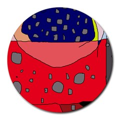 Playful abstraction Round Mousepads