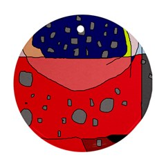 Playful abstraction Ornament (Round)