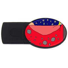 Playful abstraction USB Flash Drive Oval (2 GB)