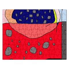 Playful abstraction Rectangular Jigsaw Puzzl