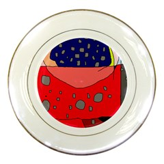 Playful abstraction Porcelain Plates