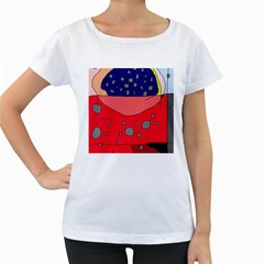 Playful abstraction Women s Loose-Fit T-Shirt (White)