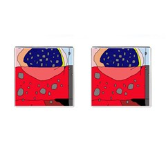 Playful abstraction Cufflinks (Square)