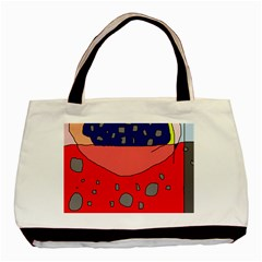 Playful abstraction Basic Tote Bag
