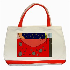 Playful abstraction Classic Tote Bag (Red)