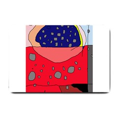 Playful abstraction Small Doormat