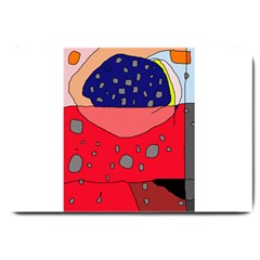 Playful abstraction Large Doormat