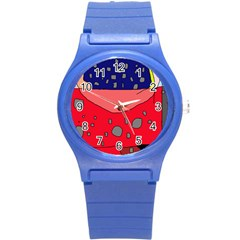 Playful abstraction Round Plastic Sport Watch (S)
