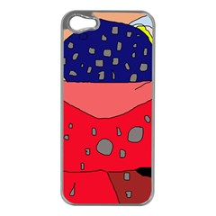 Playful abstraction Apple iPhone 5 Case (Silver)