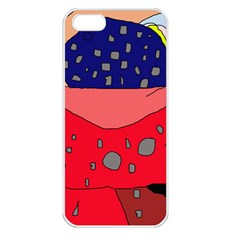 Playful abstraction Apple iPhone 5 Seamless Case (White)