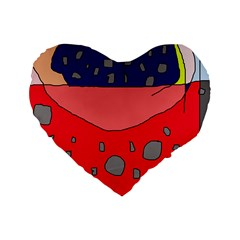 Playful abstraction Standard 16  Premium Heart Shape Cushions