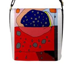 Playful abstraction Flap Messenger Bag (L)