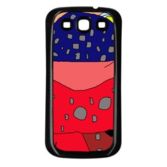Playful abstraction Samsung Galaxy S3 Back Case (Black)