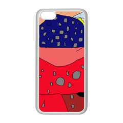 Playful abstraction Apple iPhone 5C Seamless Case (White)