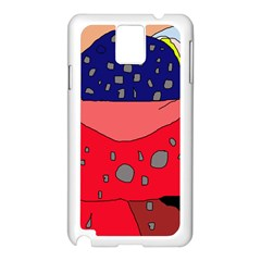 Playful abstraction Samsung Galaxy Note 3 N9005 Case (White)