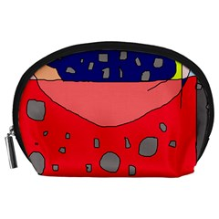 Playful abstraction Accessory Pouches (Large)
