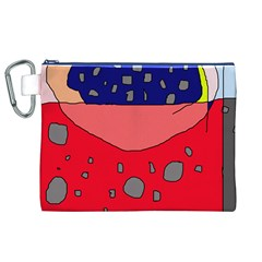 Playful abstraction Canvas Cosmetic Bag (XL)