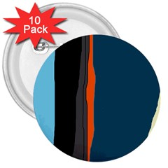 Colorful lines  3  Buttons (10 pack)