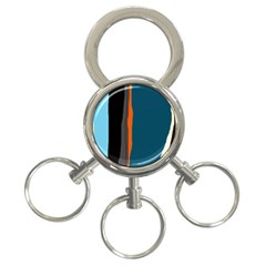 Colorful lines  3-Ring Key Chains