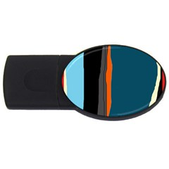 Colorful lines  USB Flash Drive Oval (1 GB)