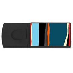 Colorful lines  USB Flash Drive Rectangular (4 GB)
