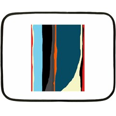 Colorful lines  Double Sided Fleece Blanket (Mini)