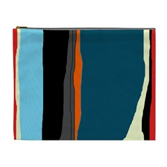 Colorful lines  Cosmetic Bag (XL)