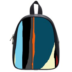Colorful lines  School Bags (Small)