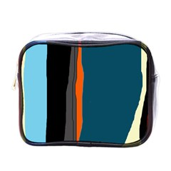 Colorful lines  Mini Toiletries Bags