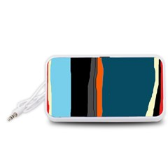 Colorful lines  Portable Speaker (White)
