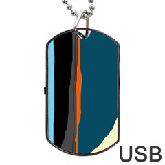 Colorful lines  Dog Tag USB Flash (Two Sides)