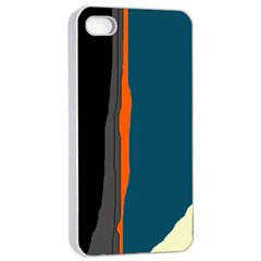 Colorful lines  Apple iPhone 4/4s Seamless Case (White)