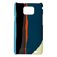 Colorful lines  Samsung Galaxy S2 i9100 Hardshell Case