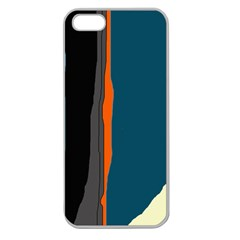 Colorful lines  Apple Seamless iPhone 5 Case (Clear)