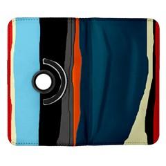 Colorful lines  Samsung Galaxy Note II Flip 360 Case