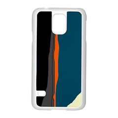 Colorful lines  Samsung Galaxy S5 Case (White)