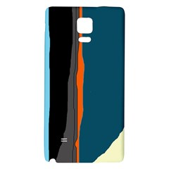 Colorful lines  Galaxy Note 4 Back Case