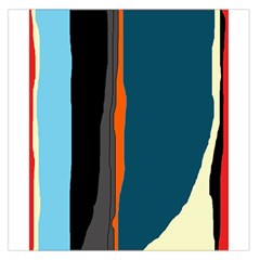 Colorful lines  Large Satin Scarf (Square)