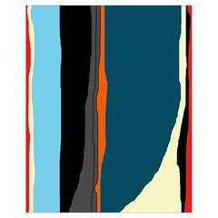 Colorful lines  Drawstring Bag (Small)