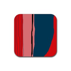Decorative lines Rubber Coaster (Square)