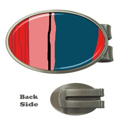 Decorative lines Money Clips (Oval)