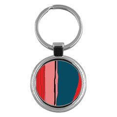 Decorative lines Key Chains (Round)