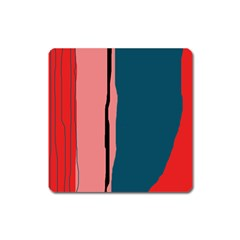 Decorative lines Square Magnet