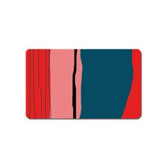 Decorative lines Magnet (Name Card)