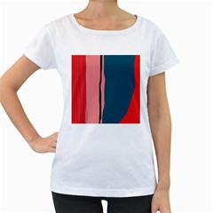 Decorative lines Women s Loose-Fit T-Shirt (White)