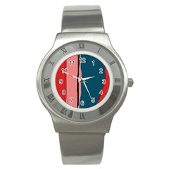 Decorative lines Stainless Steel Watch