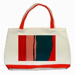Decorative lines Classic Tote Bag (Red)