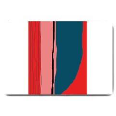 Decorative lines Large Doormat