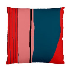 Decorative lines Standard Cushion Case (One Side)