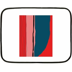 Decorative lines Fleece Blanket (Mini)